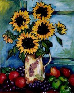 """Sunflowers and Fruit"""