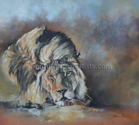 """Resting lion male"""