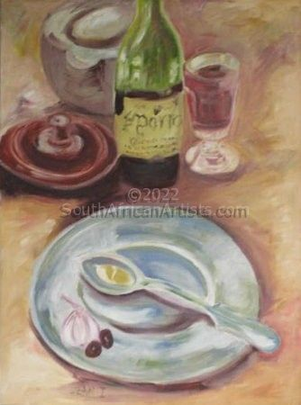 """Still Life with Red Wine"""