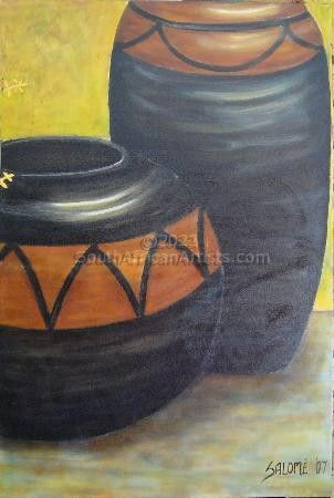 """African Pots Diptych no 2 of 2"""