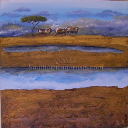 """Cattle Under Solitary Tree"""