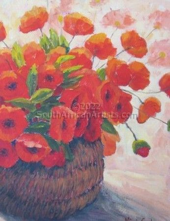 """Basket with Poppies"""