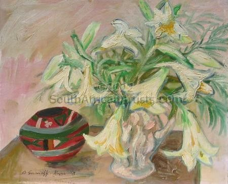 """Lilies and African Vase"""