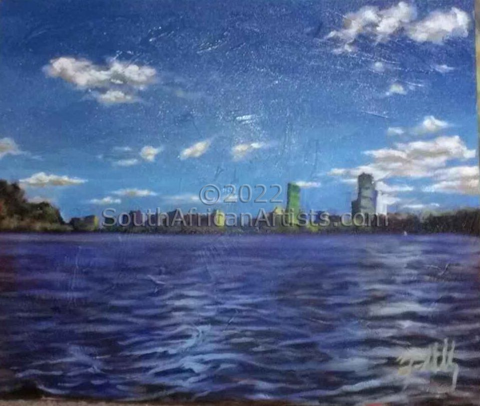 """Boston Skyline from Harbor"""