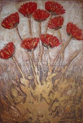 """Red and Gold Poppies"""
