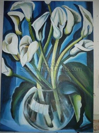 """lilies in blue"""