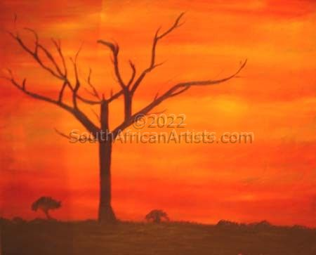 """African Sunset -Tree"""