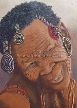 """Bushman Woman With Adornments"""