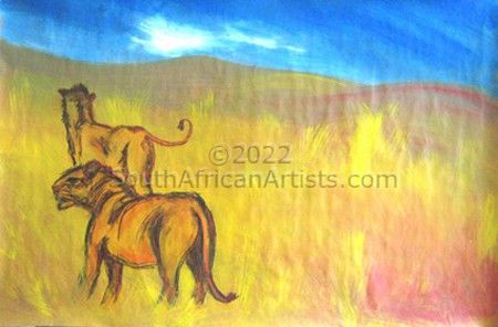 """Lions Under African Sky"""