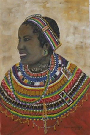 """African Lady with beads"""