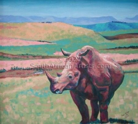 """Rhino in Mt Everest Game Reserve"""