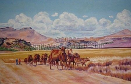 """Red Cattle on the Road"""