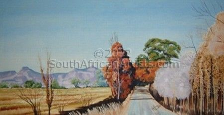 """Autumn Trees in Eastern Free State"""