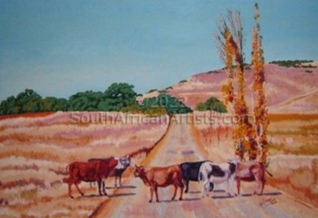 """Cattle Blocking the Road"""