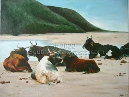 """Cattle on the beach"""