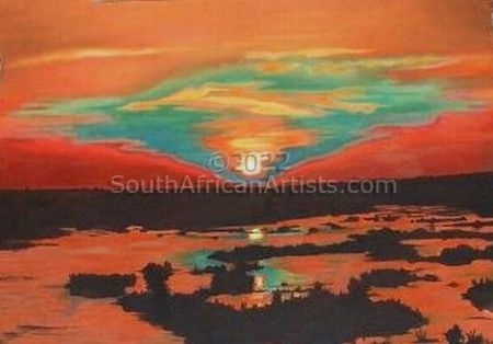 """Africa in an African Sunset"""