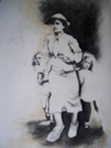 """Mother with Kids"""
