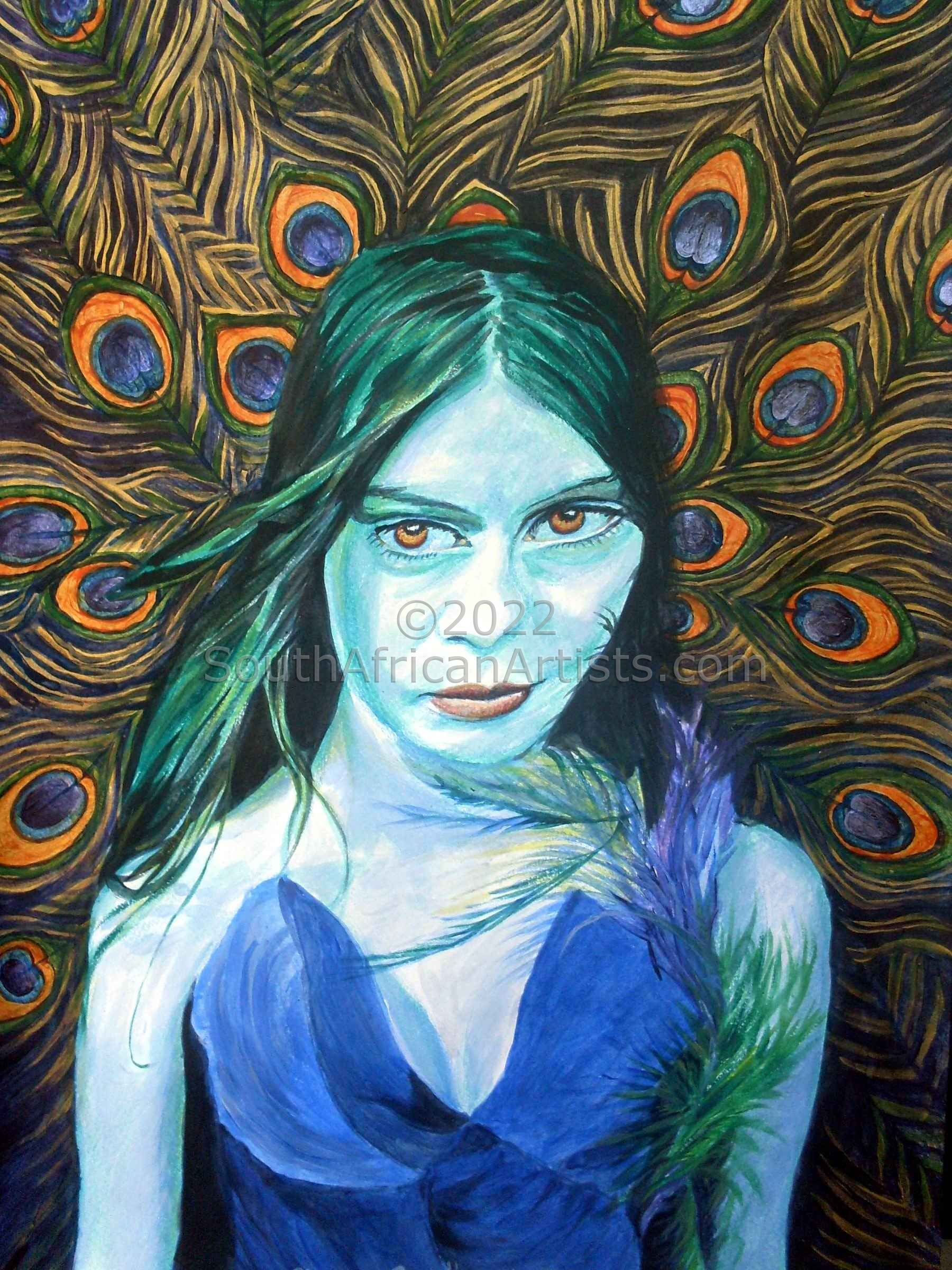 """Peacock Lady"""