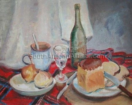 """Still Life with Bread and Wine"""