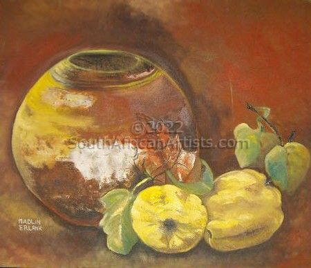 """African Pot and Quince"""
