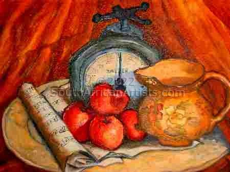 """Still Life With Salter Scale and Fruit"""