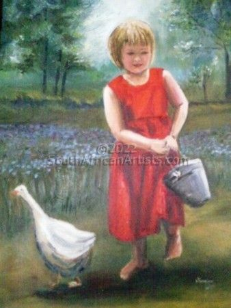 """Girl with Goose"""
