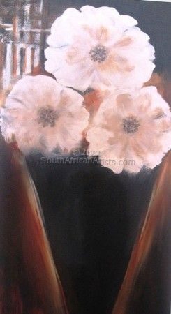 """Three White Flowers"""