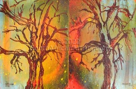"""Trees One Diptych"""