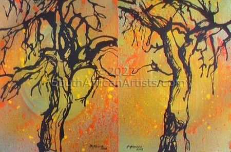 """Trees Two Diptych"""