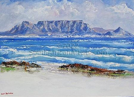 """Table Mountain from Blouberg"""