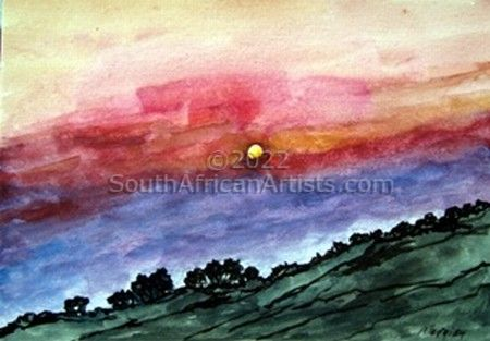 """Sunset Over India"""