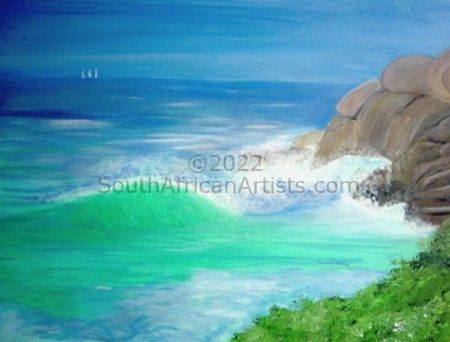 """Seascape with Rocks"""
