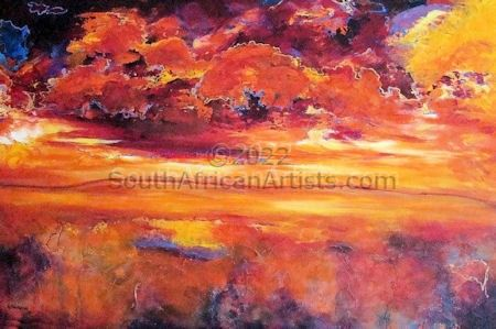 """Sunset Storm Clouds"""