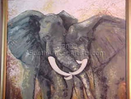 """African Elephant Courting"""