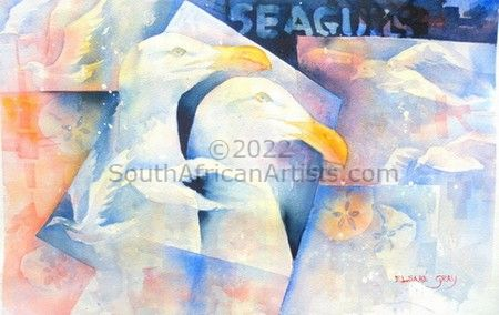 """Seagulls and Pansies"""