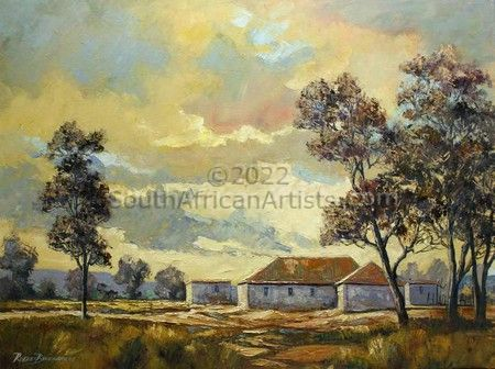"""Farmstead at Dawn"""