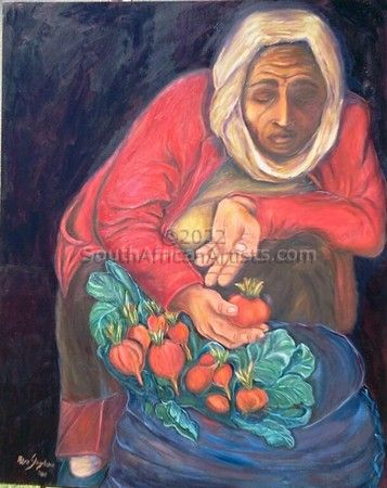 """Russian Woman Selling Radish"""