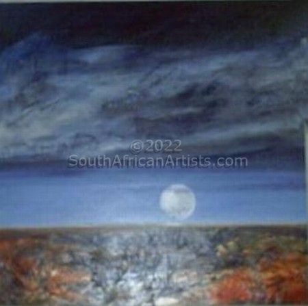 """Full Moon Over Ancient Land"""