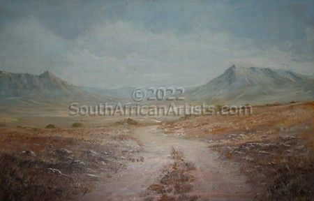 """Empty Country Road with Mountains"""