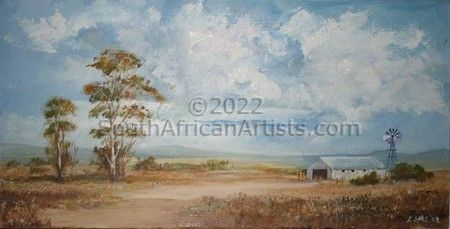 """Farm Shed and Trees"""