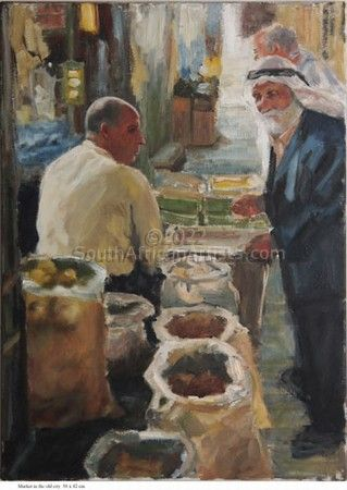 """Market in the Old City"""