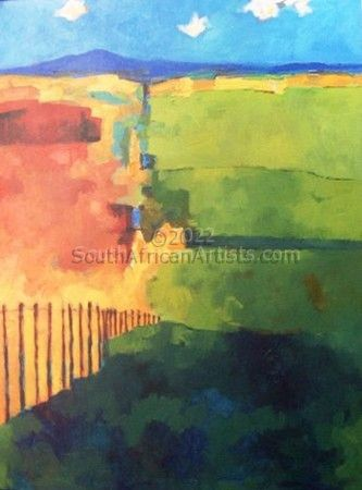 """Landscape with Fence"""