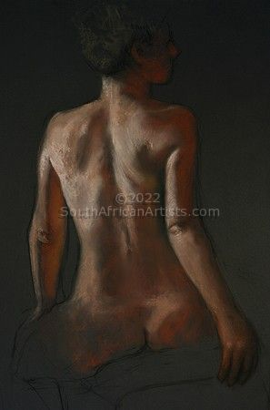 """Sitting Nude From the Back"""