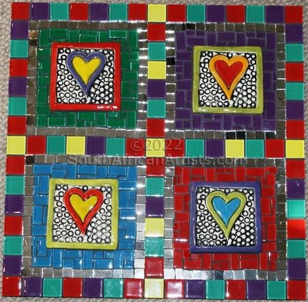 """Heart Colors Wall Hanging"""