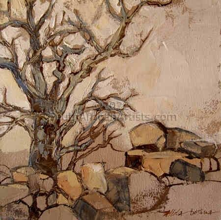 """Boulders and Tree"""