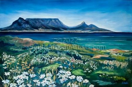 """Spring flowers, Cape Town"""