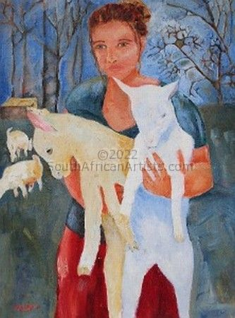 """Girl With Goats"""