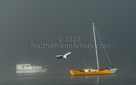 """Boat in the Mist"""