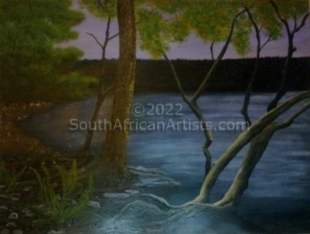 """mystery twilight lake"""