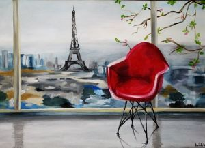 """Red Chair in France"""